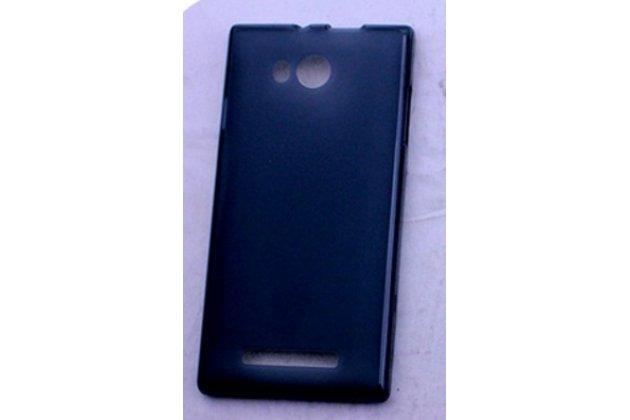 Фирменная ультра-тонкая полимерная из мягкого качественного силикона задняя панель-чехол-накладка для Leagoo Lead 5 черная