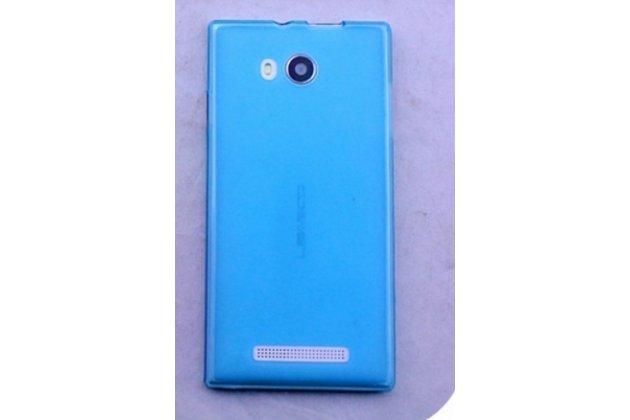 Фирменная ультра-тонкая полимерная из мягкого качественного силикона задняя панель-чехол-накладка для Leagoo Lead 5 голубая