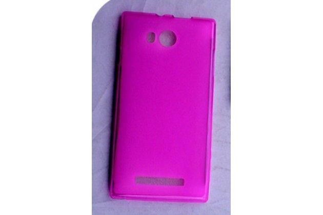 Фирменная ультра-тонкая полимерная из мягкого качественного силикона задняя панель-чехол-накладка для Leagoo Lead 5 розовая