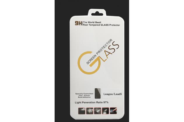 """Фирменное защитное закалённое противоударное стекло премиум-класса из качественного японского материала с олеофобным покрытием для телефона Leagoo Lead 5"""""""