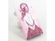 Фирменный уникальный необычный чехол-подставка для Leagoo Lead 5  тематика Модная Девушка ..