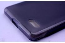 Фирменная ультра-тонкая полимерная из мягкого качественного силикона задняя панель-чехол-накладка для Leagoo M5 5.0 черная