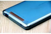 Фирменная ультра-тонкая полимерная из мягкого качественного силикона задняя панель-чехол-накладка для Leagoo Shark 1 голубая