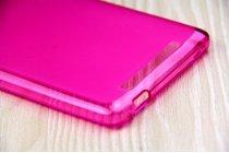 Фирменная ультра-тонкая полимерная из мягкого качественного силикона задняя панель-чехол-накладка для Leagoo Shark 1 розовая