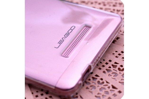 Фирменная ультра-тонкая полимерная из мягкого качественного силикона задняя панель-чехол-накладка для Leagoo T1 Plus 5.5 белая