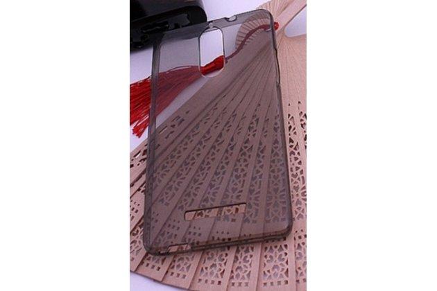 Фирменная ультра-тонкая полимерная из мягкого качественного силикона задняя панель-чехол-накладка для Leagoo T1 Plus 5.5 черная