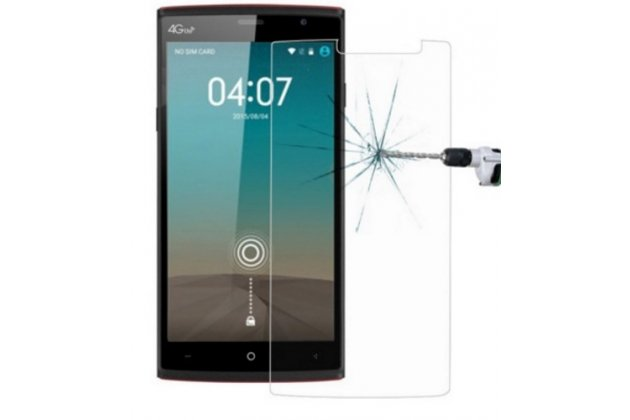 Фирменное защитное закалённое противоударное стекло премиум-класса из качественного японского материала с олеофобным покрытием для телефона Leagoo T1 Plus 5.5