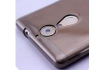 Фирменная ультра-тонкая полимерная из мягкого качественного силикона задняя панель-чехол-накладка для Leagoo T1 черная