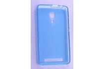 Фирменная ультра-тонкая полимерная из мягкого качественного силикона задняя панель-чехол-накладка для Leagoo Z1 голубая