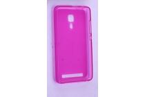 Фирменная ультра-тонкая полимерная из мягкого качественного силикона задняя панель-чехол-накладка для Leagoo Z1 розовая