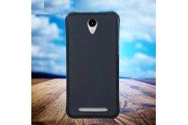 Фирменная ультра-тонкая полимерная из мягкого качественного силикона задняя панель-чехол-накладка для Leagoo Z5 черная