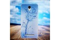 Фирменная ультра-тонкая полимерная из мягкого качественного силикона задняя панель-чехол-накладка для Leagoo Z5 Капли дождя