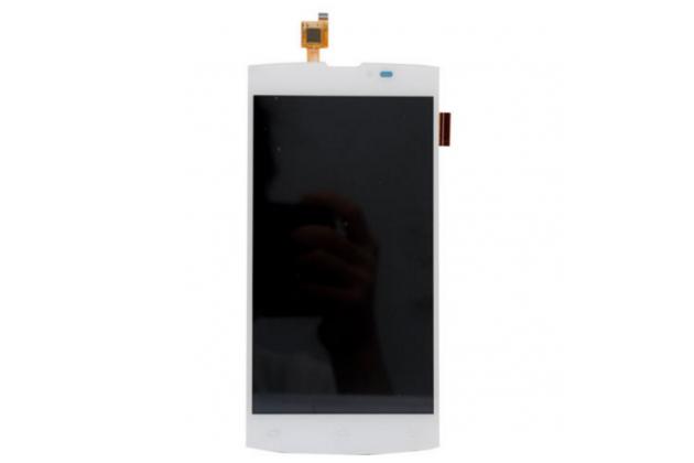 """Фирменный LCD-ЖК-сенсорный дисплей-экран-стекло с тачскрином на телефон Leagoo Lead 7"""" белый"""