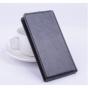 """Фирменный оригинальный вертикальный откидной чехол-флип для  Leagoo Lead 7 черный из натуральной кожи """"Prestige"""" Италия"""
