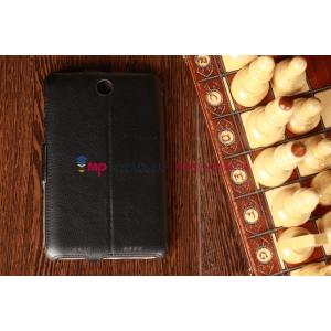 Фирменный чехол-обложка для Lenovo IdeaTab A2107A черный кожаный