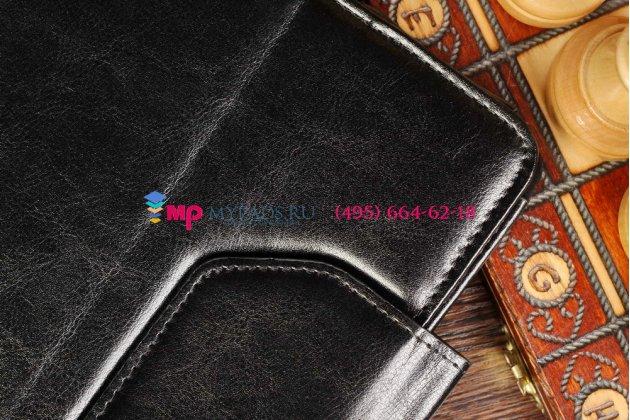 Чехол-обложка для Lenovo IdeaTab Lynx K3011 черный кожаный