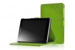 """Фирменный чехол обложка для Lenovo Ideatab A5500-h/A8-50 с визитницей и держателем для руки зеленый натуральная кожа """"Prestige"""" Италия"""