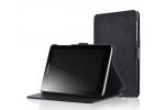 """Фирменный чехол обложка для Lenovo Ideatab A5500-h/A8-50 с визитницей и держателем для руки черный натуральная кожа """"Prestige"""" Италия"""