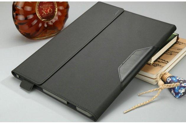 """Фирменный чехол 2-в-1 для планшета и клавиатуры Lenovo Miix 700 m7 / m3 / Miix 4 12"""" черный кожаный"""