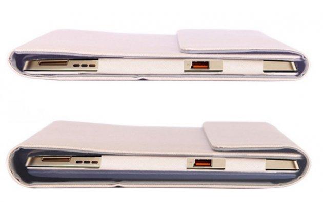 """Фирменный ультра тонкий чехол для Lenovo Miix 700 m7 / m3 / Miix 4 12""""  белый из кожи на магнитной застежке"""