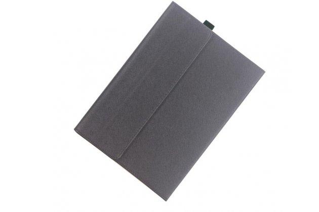 """Фирменный ультра тонкий чехол для Lenovo Miix 700 m7 / m3 / Miix 4 12""""  черный из кожи на магнитной застежке"""