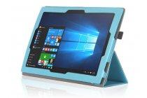 """Фирменный ультра тонкий чехол для Lenovo Miix 700 m7 / m3 / Miix 4 12""""  голубой из кожи на магнитной застежке"""