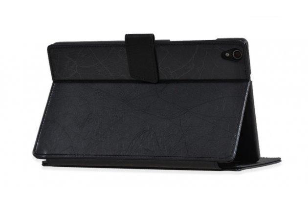 Фирменный чехол бизнес класса для Lenovo Ideatab S8-50/S8-50F/S8-50LC черный кожаный с узором