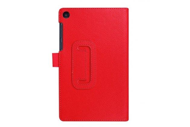 """Фирменный оригинальный чехол обложка с подставкой для Lenovo TAB 3 TB3-730X/M LTE 7.0"""" (ZA130004RU / (ZA130040RU) красный кожаный"""