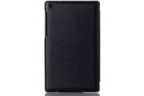 """Фирменный умный тонкий чехол для Lenovo TAB 3 Essential TB3-710F / 710i 7.0 """"Il Sottile"""" черный пластиковый"""