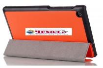 """Фирменный умный тонкий чехол для Lenovo TAB 3 Essential TB3-710F / 710i 7.0 """"Il Sottile"""" оранжевый пластиковый"""