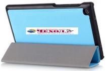 """Фирменный умный тонкий чехол обложка для Lenovo TAB 3 Essential TB3-710F / 710i 7.0 """"Il Sottile"""" голубой пластиковый Италия"""