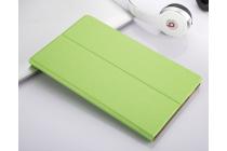 Фирменный чехол-обложка с мультиподставкой для Lenovo TB-8703N / X (ZA230018RU) зеленый из водоотталкивающей кожи