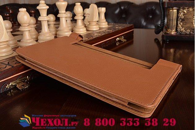"""Фирменный чехол подставка для Lenovo Yoga Tablet 3 8.0"""" (YT3-850F/ 850F) коричневый  кожаный"""