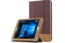 """Фирменный чехол-футляр-книжка для Lenovo Tab 3 TB3-850F/M 8.0"""" (ZA180028RU / ZA180059RU) коричневый кожаный"""