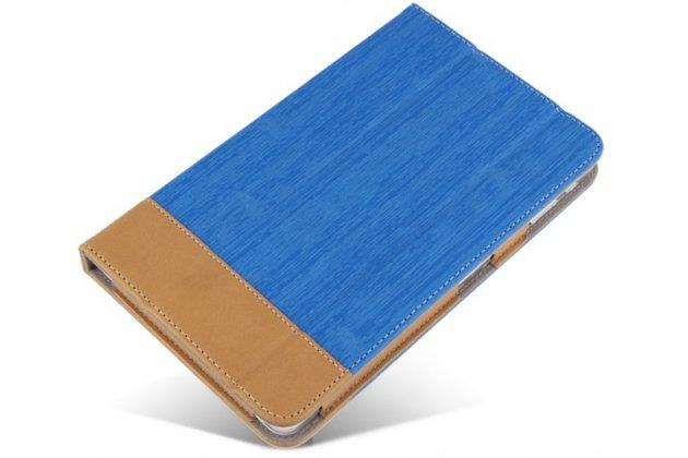 """Фирменный чехол-футляр-книжка дляLenovo Tab 3 TB3-850F/M 8.0"""" (ZA180028RU / ZA180059RU) синий кожаный"""