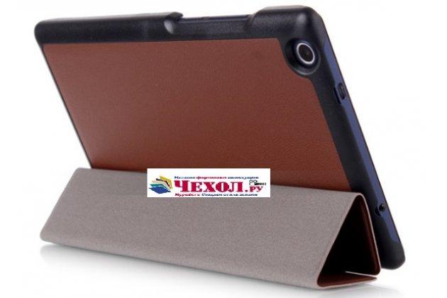 "Фирменный умный тонкий чехол для Lenovo Tab 3 TB3-850F/M 8.0"" (ZA180028RU / ZA180059RU) ""Il Sottile"" коричневый пластиковый"
