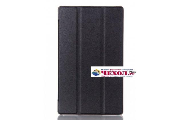 """Фирменный умный тонкий чехол для Lenovo Tab 3 TB3-850F/M 8.0"""" (ZA180028RU / ZA180059RU)  """"Il Sottile"""" черный пластиковый"""