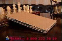 Фирменный чехол-футляр-книжка для YB1-X91L / X90L / ZA0W0014RU золотой кожаный