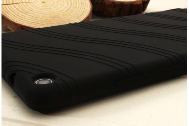 Фирменная ультра-тонкая полимерная из мягкого качественного силикона задняя панель-чехол-накладка для Lenovo Tab 3 7 Plus TB-7703X/N (ZA1K0070RU) черная с защитной рамкой
