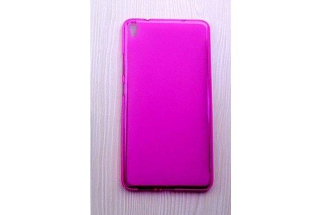 Фирменная ультра-тонкая полимерная из мягкого качественного силикона задняя панель-чехол-накладка для Lenovo Tab 3 7 Plus TB-7703X/N (ZA1K0070RU) розовая