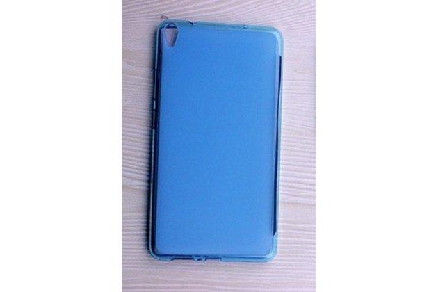 Фирменная ультра-тонкая полимерная из мягкого качественного силикона задняя панель-чехол-накладка для Lenovo Tab 3 7 Plus TB-7703X/N (ZA1K0070RU) голубая