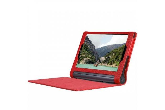 """Фирменный чехол подставка для Lenovo YOGA Tablet 3 Pro 10 (YT3-X90F/X90L/ 10.1"""" Windows 10) красный кожаный"""