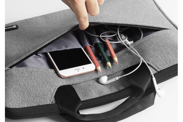 Чехол-сумка-бокс для Lenovo ideapad MIIX 310 с отделением для дополнительных аксессуаров из высококачественного материала- серый
