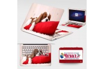 Фирменная оригинальная защитная пленка-наклейка с 3d рисунком на твёрдой основе, которая не увеличивает планшет в размерах для Lenovo MIIX 310-10ICR (80SG00A9RK) тематика Милый щенок