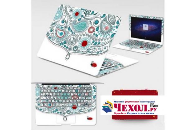 Фирменная оригинальная защитная пленка-наклейка с 3d рисунком на твёрдой основе, которая не увеличивает планшет в размерах для Lenovo MIIX 310-10ICR (80SG00A9RK) тематика Эклектические Узоры