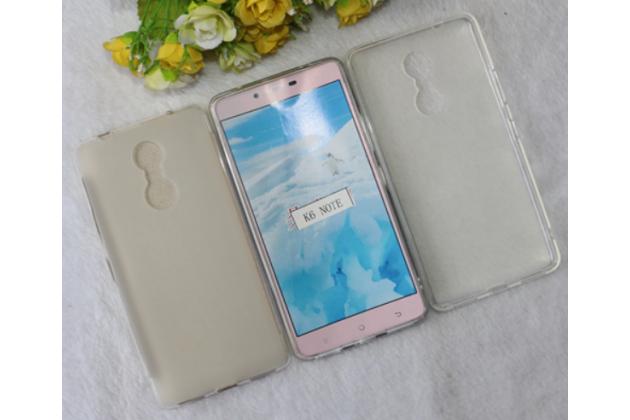 """Фирменная ультра-тонкая силиконовая задняя панель-чехол-накладка для Lenovo К6 Note 5.5"""" белая"""