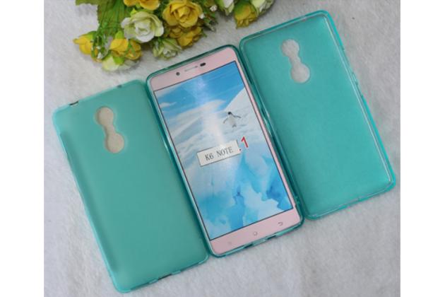 """Фирменная ультра-тонкая силиконовая задняя панель-чехол-накладка для Lenovo К6 Note 5.5"""" голубая"""