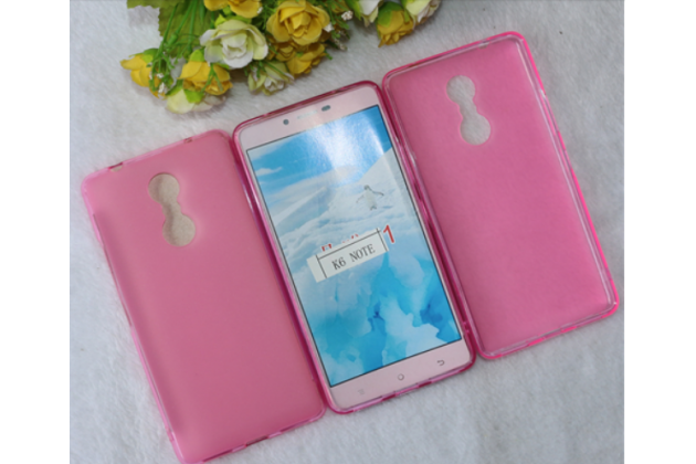 """Фирменная ультра-тонкая силиконовая задняя панель-чехол-накладка для Lenovo К6 Note 5.5"""" розовая"""