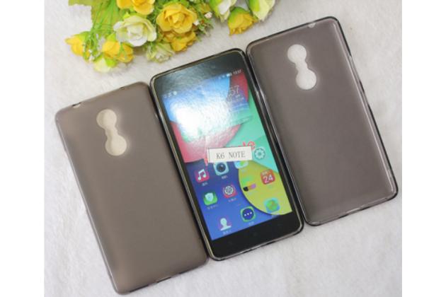 """Фирменная ультра-тонкая силиконовая задняя панель-чехол-накладка для Lenovo К6 Note 5.5"""" серая"""