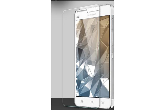 Фирменное защитное закалённое противоударное стекло премиум-класса из качественного японского материала с олеофобным покрытием для телефона Lenovo A6600 / A6600 Plus / A6800